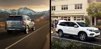 compare honda pilot and ford explorer to 2017 ford explorer vs 2017 honda pilot autonation