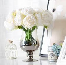 fall flowers for wedding aliexpress com buy 5 heads artificial flower peony bouquet silk