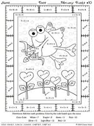 fabulous february fun winter math printables color by the code