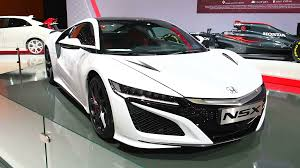 honda hybrid sports car honda nsx hybrid sports car front view during the 2017 european