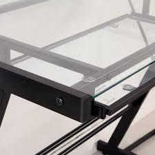 Z Line Belaire Glass L Shaped Computer Desk Desks Soreño Walker Edison Student Desk Collection Z Line