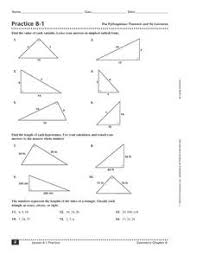 practice 8 1 the pythagorean theorem and its converse worksheet