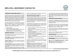 employment v independent contractor ccma document labour law