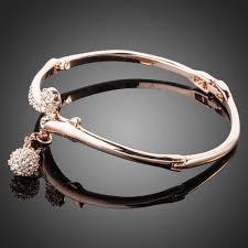 swarovski crystal gold plated bracelet images Gold bangle rose gold plated austrian crystal cubic zirconia jpg