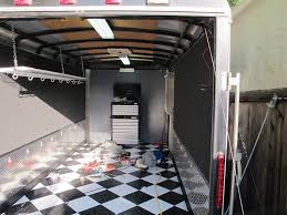 enclosed trailer interior light kit just another enclosed trailer south bay riders