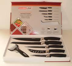 swiss line switzerland 5 piece non stick kitchen chef knife set