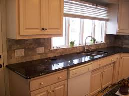 crushed glass backsplash tile that looks like brick grohe kitchen