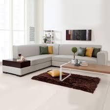 Biege Sofa L Shaped Sofas Alden Leatherette L Shape Sofa Left Light Beige