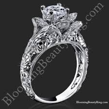 unique wedding rings all flower engagement rings unique engagement rings for women by