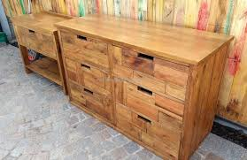 Pallet Furniture Side Table Wooden Pallets Made Dresser With Side Table Wood Pallet Furniture