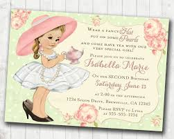 tea party birthday invitation for birthday tea party