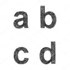sketch font set lowercase letters a b c d u2014 stock vector