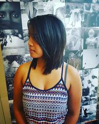 medium length layered hairstyles pinterest layered a line long bob for straight black hair medium length