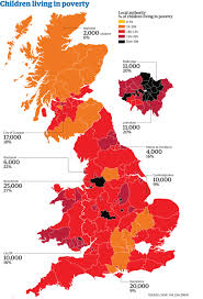 Map Of Britain The Child Poverty Map Of Britain Children Infographics
