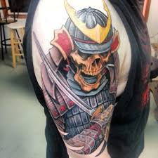 skull with sword on right bicep tattooshunt com