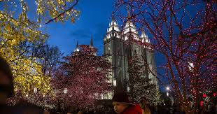 temple square lights 2017 schedule utah s top christmas lights shows sure even temple square are