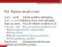 toyota car recall crisis toyota