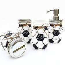 soccer mason jar soccer gift birthday sports nursery