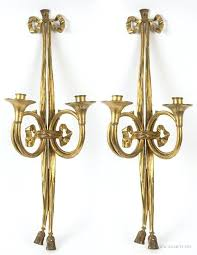 Vintage Brass Wall Sconces Brass Candle Sconces U2013 Senalka Com