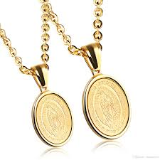 gold mother necklace images Wholesale miraculous medal blessed mother necklace virgin mary jpg