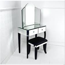 white wooden dressing table with drawer and mirror on curvy ideas