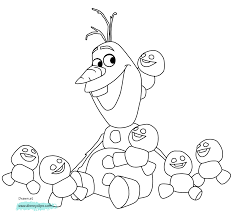 olaf and the snowgies in frozen fever coloring page frozen fever