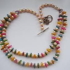 coloured bead necklace images And multi coloured shell bead necklace jpg