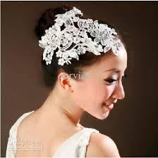 wedding headdress bridal hairpins headdress lace with diamond wedding