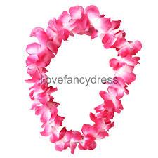 hawaiian garland flower necklace mens tropical fancy
