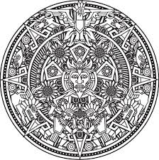 Aztec Calendar Coloring Page coloring pages mayan calendar best of aztec calendar coloring page