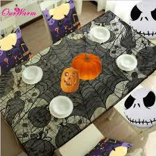 15pcs lace tablecloth black spider web 60 80inch tablecover