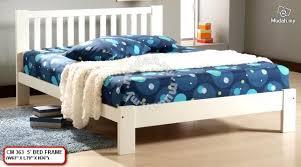 Best Buy Bed Frames Esther Solid Wood Best Buy White Bed Furniture
