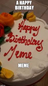 Meme Cake - image tagged in cake birthday memes happy party imgflip
