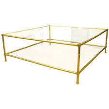 coffee table brass glass coffee tables square brass faux bamboo
