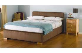Suede Bed Frame Kingsize 5ft Bed Frame Chocolate Faux Suede Wood With Slats