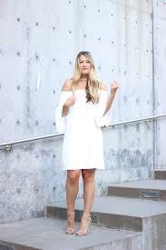 transitional white bell sleeve dress cameron proffitt
