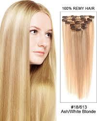 light ash blonde clip in hair extensions 18 7pcs straight remy hair clip in hair extensions 18 613 ash