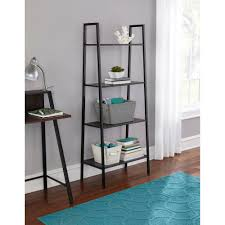 collection of solutions hutches bookcases brown wood metal 4 shelf