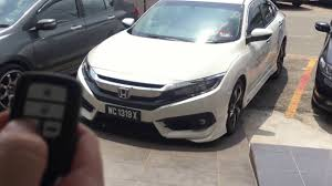 honda civic modified white honda civic 2016 malaysia 1 5l turbo premium remote start stop