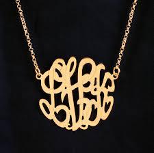 gold monogram necklace gold monogram necklace 1 inch purple mermaid designs