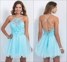 light blue halter maxi dress light blue halter homecoming dresses 2015 with applique beaded a