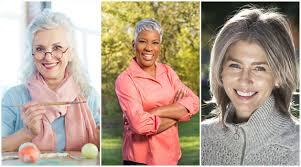 images of grey hair in transisition how to transition to grey hair gransnet