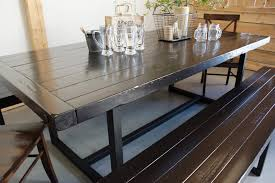 wood and iron dining room table wood iron dining table liken woodworks