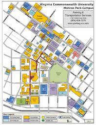 Map Of Richmond Va Student Facility Maps Parking U0026 Transportation