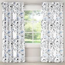Skyline Shower Curtain Blackout Curtain Winter Botanical Blue Skyline Furniture Target