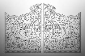 beautiful iron ornament gates royalty free cliparts vectors and