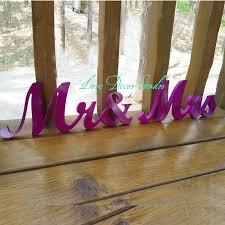 Purple Wedding Centerpieces Aliexpress Com Buy Purple Wedding Centerpiece Glitter Mr U0026 Mrs