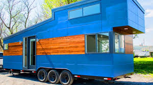 Modern Style Homes Big Blue From Liberation Tiny Homes Modern Style Tiny Houses