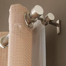 Double Rod Curtain Hardware Double Curtain Rod Would Be Perfect For Our Blackout Sheers