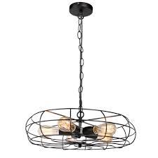 industrial vintage lighting ceiling chandelier 5 lights metal
